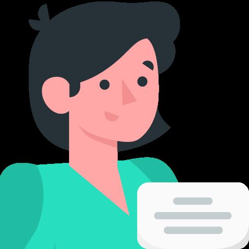 Illustration d'une femme avec un document.